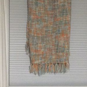 Soft multi color throw blanket